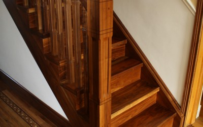 Solid Wallnut Stairs